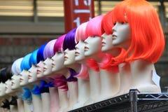 Tienda de la peluca en el mercado Melbourne de Victoria Foto de archivo