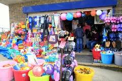 Tienda de la playa, Mablethorpe, Lincolnshire Foto de archivo libre de regalías