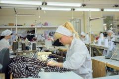Tienda de la producción de costureras imagen de archivo libre de regalías