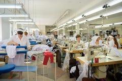 Tienda de la producción de costureras fotografía de archivo