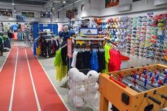 Tienda de la ropa de deportes Foto de archivo libre de regalías