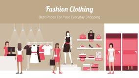 Tienda de la ropa de moda Imagenes de archivo