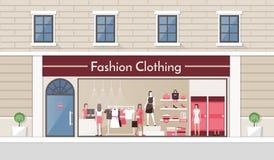 Tienda de la ropa de moda Foto de archivo libre de regalías