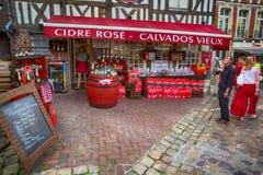 Tienda de la sidra de Calvados Fotografía de archivo