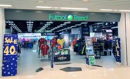 Tienda de la tendencia de Futbol en Hong-Kong Fotografía de archivo libre de regalías