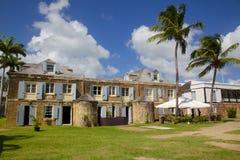 Tienda de las Antillas, del Caribe, de Antigua, del astillero de Nelson, del cobre y de la madera de construcción Foto de archivo libre de regalías