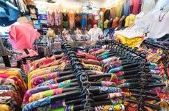 Tienda de las camisas en Bangkok Fotografía de archivo libre de regalías