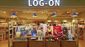 Tienda de las compras de la conexión, Hong-Kong Foto de archivo libre de regalías
