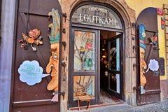 Tienda de las marionetas en Praga Fotografía de archivo libre de regalías