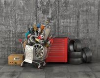 Tienda de las piezas de automóvil imagen de archivo