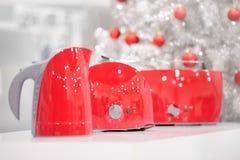 Tienda de los aparatos electrodomésticos en la Navidad Imagen de archivo libre de regalías