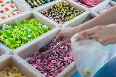 Tienda de los caramelos de la jalea Foto de archivo