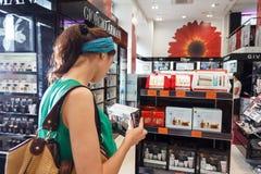 Tienda de los cosméticos fotos de archivo