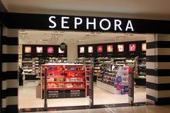 Tienda de los cosméticos de Sephora en Bucarest, Rumania Imagenes de archivo