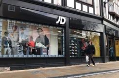 Tienda de los deportes de JD imagen de archivo