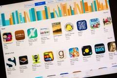 Tienda de los eBooks de Apple Imagenes de archivo
