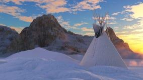 Tienda de los indios norteamericanos congelada Fotos de archivo libres de regalías