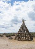 Tienda de los indios norteamericanos de madera Imagen de archivo