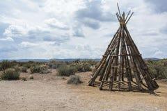 Tienda de los indios norteamericanos de madera Fotografía de archivo