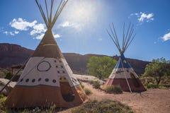 Tienda de los indios norteamericanos india del tipi Imagen de archivo