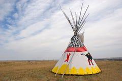 Tienda de los indios norteamericanos solitaria Imágenes de archivo libres de regalías
