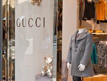 Tienda de los niños de Gucci Imágenes de archivo libres de regalías
