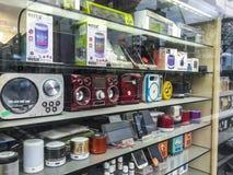 Tienda de los productos electrónicos de consumo de la electrónica de la venta al por menor del negocio de la tienda de la elect fotos de archivo libres de regalías