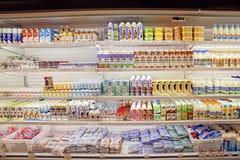 Tienda de los productos lácteos Foto de archivo libre de regalías