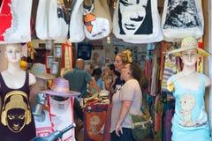 Tienda de los turistas en Saigon Fotos de archivo libres de regalías