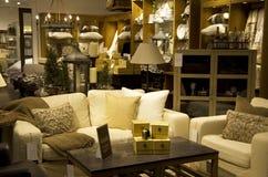 Tienda de lujo de la decoración del hogar de los muebles Foto de archivo libre de regalías