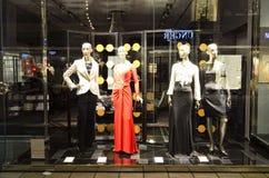 Tienda de lujo de la moda de Escada Imágenes de archivo libres de regalías