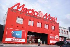 Tienda de Media Markt Imágenes de archivo libres de regalías