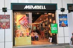 Tienda de Mirabell en el kveekoong de hong Foto de archivo