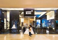 Tienda de Mont Blanc en Siam Paragon, Bangkok Imagen de archivo libre de regalías