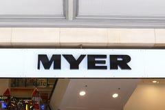 Tienda de Myer foto de archivo libre de regalías