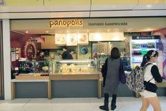 Tienda de Panopolis en el aeropuerto de Hong Kong International Imágenes de archivo libres de regalías