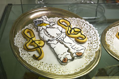 Tienda de pasteles italiana en la ciudad eterna de Roma Italia Fotografía de archivo libre de regalías