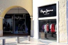 Tienda de Pepe Jeans foto de archivo libre de regalías