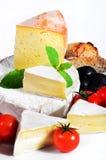 Tienda de platos preparados francesa del queso Imagenes de archivo