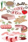 Tienda de platos preparados. Illustration.Pattern de la carne Imágenes de archivo libres de regalías