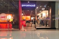 Tienda de Promod en primero ministro del SM Lanang foto de archivo
