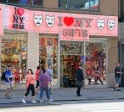 Tienda de regalos de NY Imágenes de archivo libres de regalías