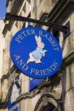 Tienda de regalos de Peter Rabbit y de los amigos en Bowness Fotografía de archivo