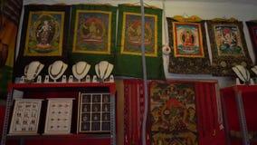 Tienda de regalos en la India sin la gente almacen de video