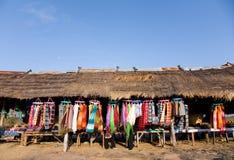 Tienda de ropa en la montaña Imagen de archivo libre de regalías