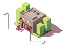 Tienda de ropa isométrica del vector stock de ilustración