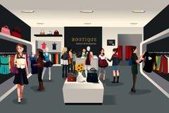 Tienda de ropa moderna interior Imagen de archivo