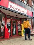 Tienda de Ryman, Londres fotografía de archivo libre de regalías