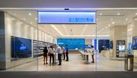 Tienda de Samsung, embajada central Imágenes de archivo libres de regalías