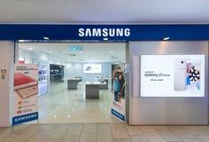 Tienda de Samsung en la plaza Yat bajo, Kuala Lumpur, Malasia Imágenes de archivo libres de regalías
